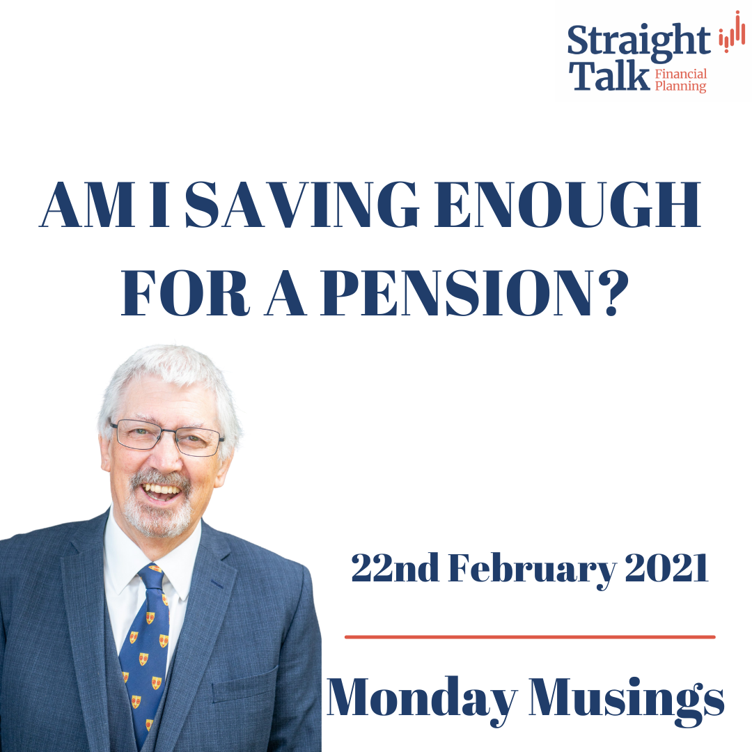 Am I saving enough for a pension? | Straight Talk Financial Planning