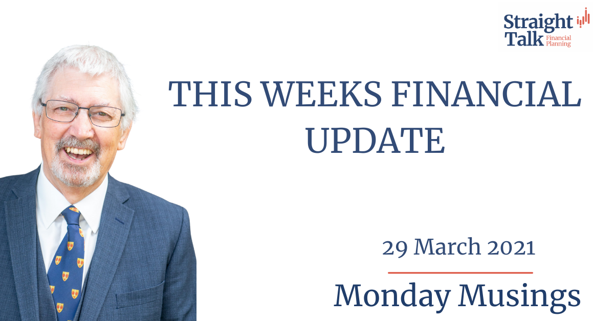 David talks about the weeks financial update in todays Monday Musings