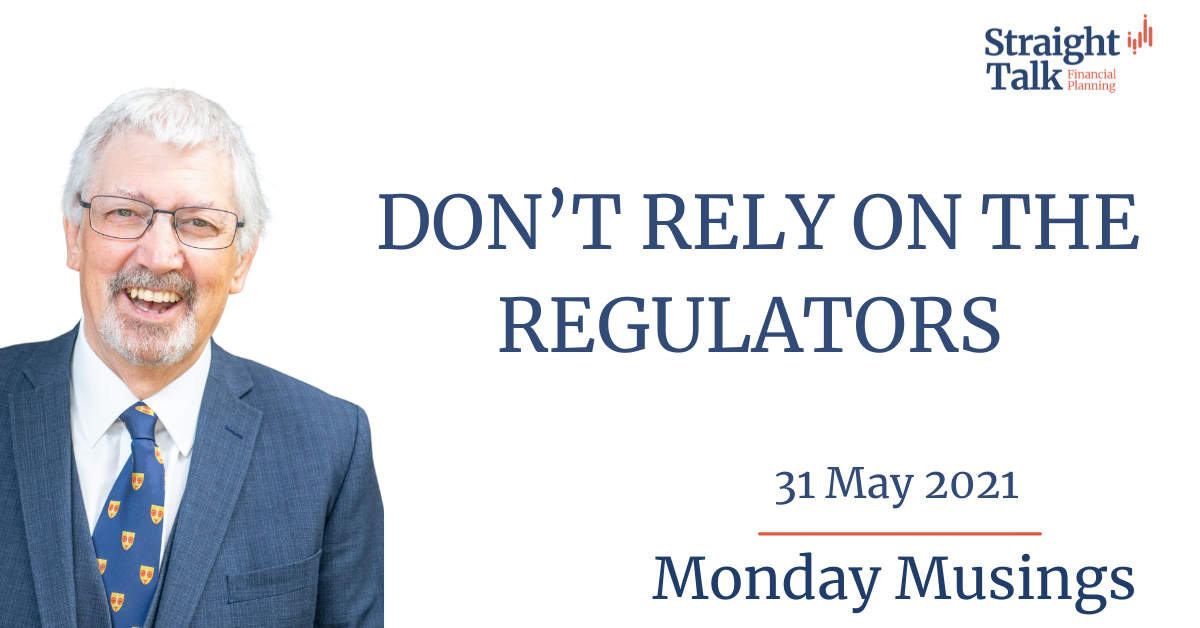 David talks about not relying on the Regulators