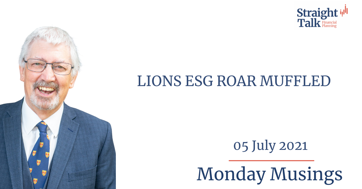 In this weeks Monday Musings, David talks about ESG - Environmental, Social and Governance